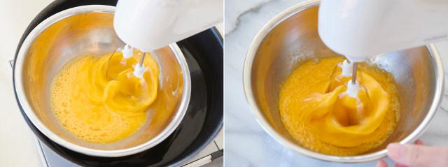 ▲左:湯煎あり 右:湯煎なし