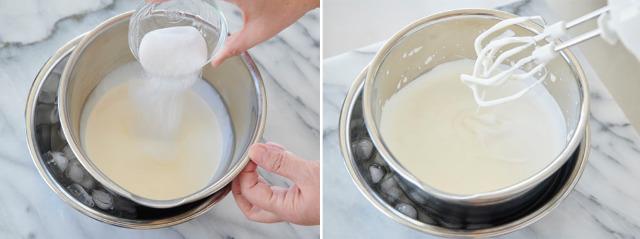 ホイップクリームを泡立てる