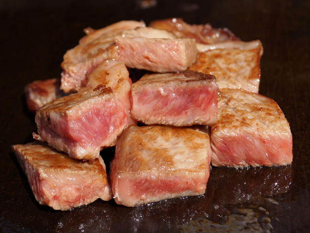 クオリティの高い牛肉ならではの極上の食感