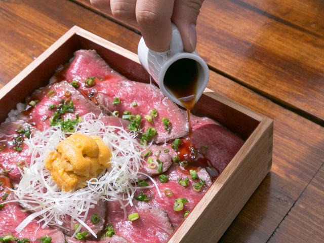 肉&ウニ&甘辛いタレ=NYスタイル! こだわり和牛創作料理のとろけるウマさにリピート確実