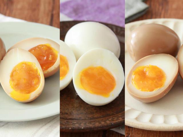 【食べ比べレシピ】どの「煮卵」が好み? 卵黄とろ~りな半熟煮卵を3種類の味付けで調理してみた