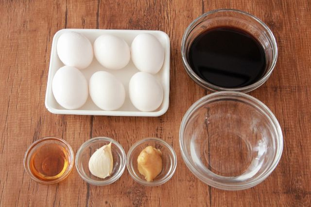簡単に味が決まる!「お手軽煮卵・めんつゆ味」