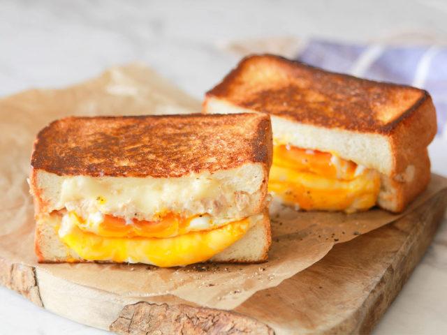アメリカ式チーズトースト作ったよ!