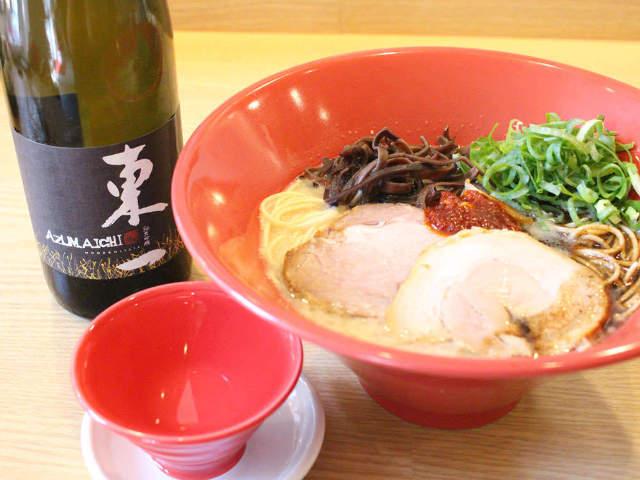 立ち飲みできる「一風堂」が浜松町にオープン! 厳選日本酒と〆ラーメンが同時に味わえるって幸せ