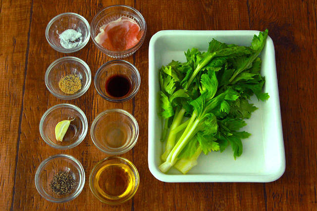 これは簡単! 5分で作れる即席前菜「セロリの葉と生ハムのサラダ」