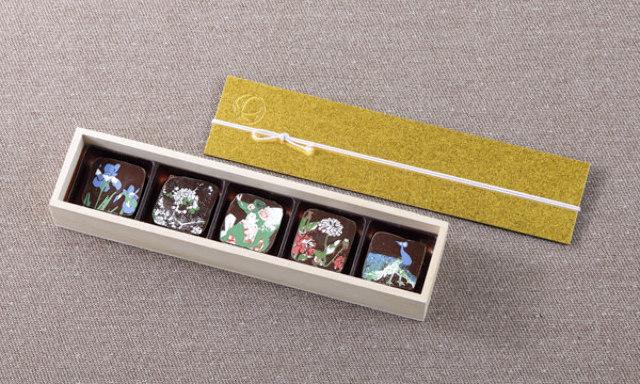 9.まるで絵画! 雅叙園の美しい天井画を映し込んだ『PATISSERIE 栞杏1928』の「竹林」