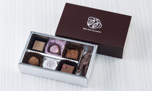 8.コンセプトは、「香り」。バラやフランボワーズの華やかな香りがこぼれる『ミホ・シェフ・ショコラティエ』の生ショコラ