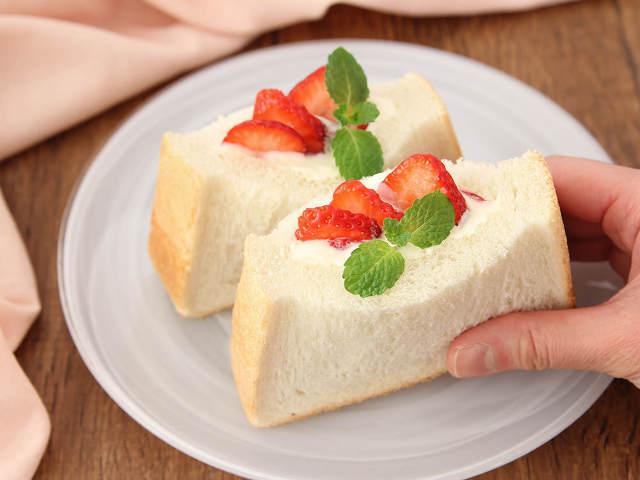優しい甘さと酸味で食べやすい!「イチゴとヨーグルトのポケットサンド」