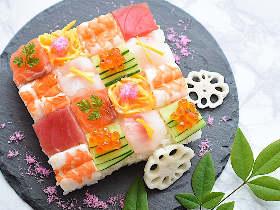意外とカンタン! 並べるだけで可愛く仕上がる「モザイク寿司」がお花見シーズンにおすすめ