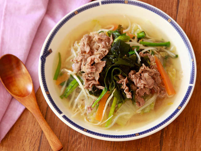 L-カルニチンとショウガオールがダイエットをサポート!「牛肉と生姜の中華スープ」
