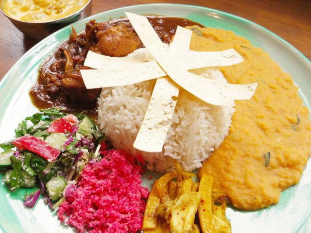 1.【幡ヶ谷】色彩華やか野菜たっぷり『Curry&Spice 青い鳥』