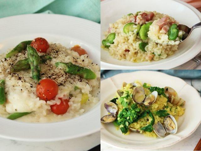春野菜をおいしく調理!そら豆や菜の花で作る簡単リゾットレシピ