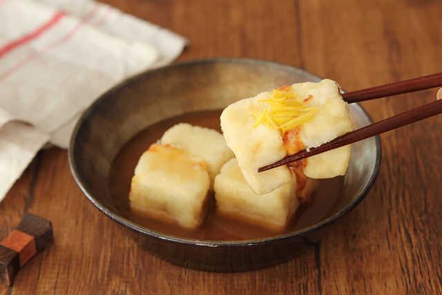 クリームチーズの揚げだし豆腐